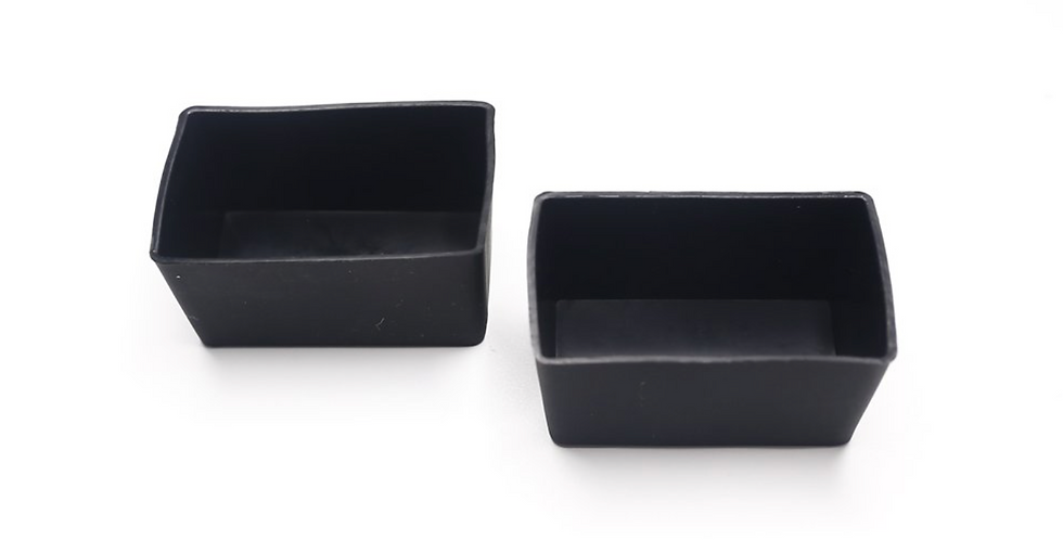 Munchcups - Black Rectangle (2 Pieces)