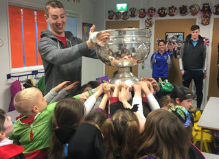 Sam Maguire and Brendan Martin cup visit GPETNS