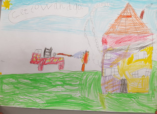 Junior Infants scoop top prize in Dublin Fire brigade art competition!