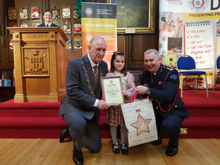 Fire Safety week art competition winner from Senior Infants