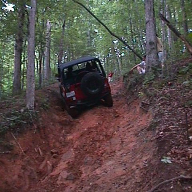 Next, Jim Cirbus went up and winched himself up the rest of the hill