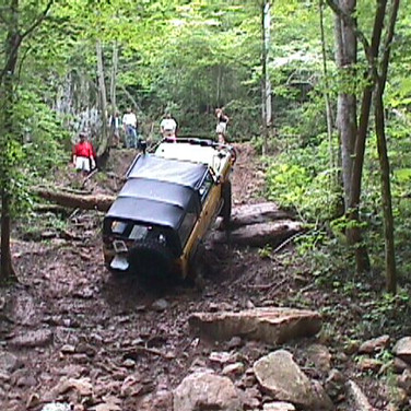 """Here's Dan driving up """"Double Winch Hill"""", but he only had to  use his winch once"""