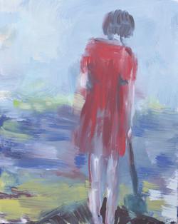 Rotes Kleid 2020 40 x 30cm