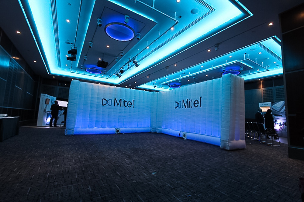 Inflatable walling company install London hotel