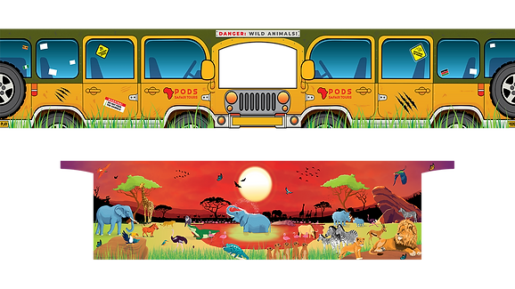Sunset Savanna Safari PODS theme Artwork