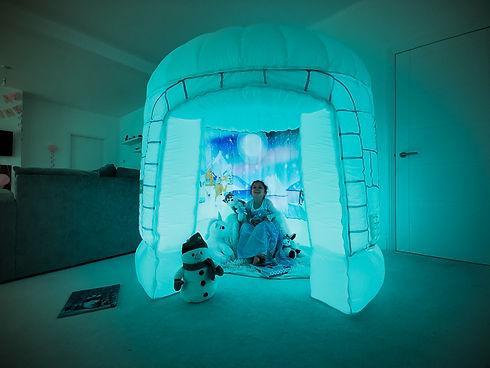 Aqua Sensory tent pod room relaxing infl