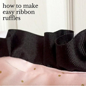 how to make easy ribbon ruffles