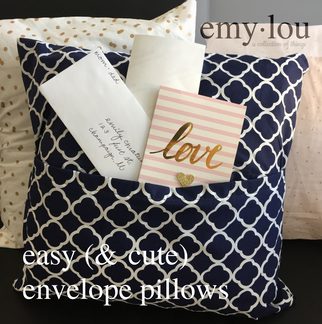 easy (& cute) envelope pillows