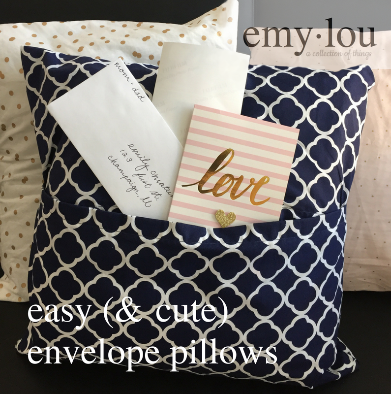 not really for mail, just a cute removable pillow case