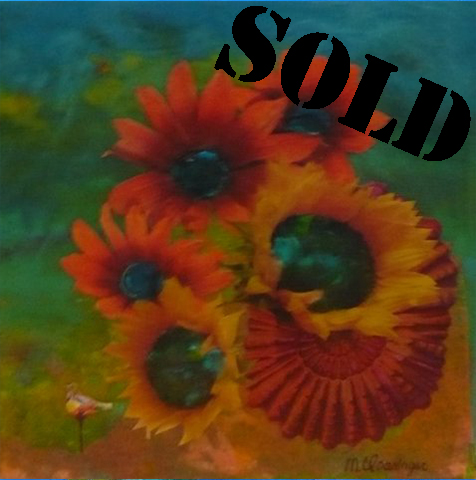 Flowers with Nautilus_SOLD