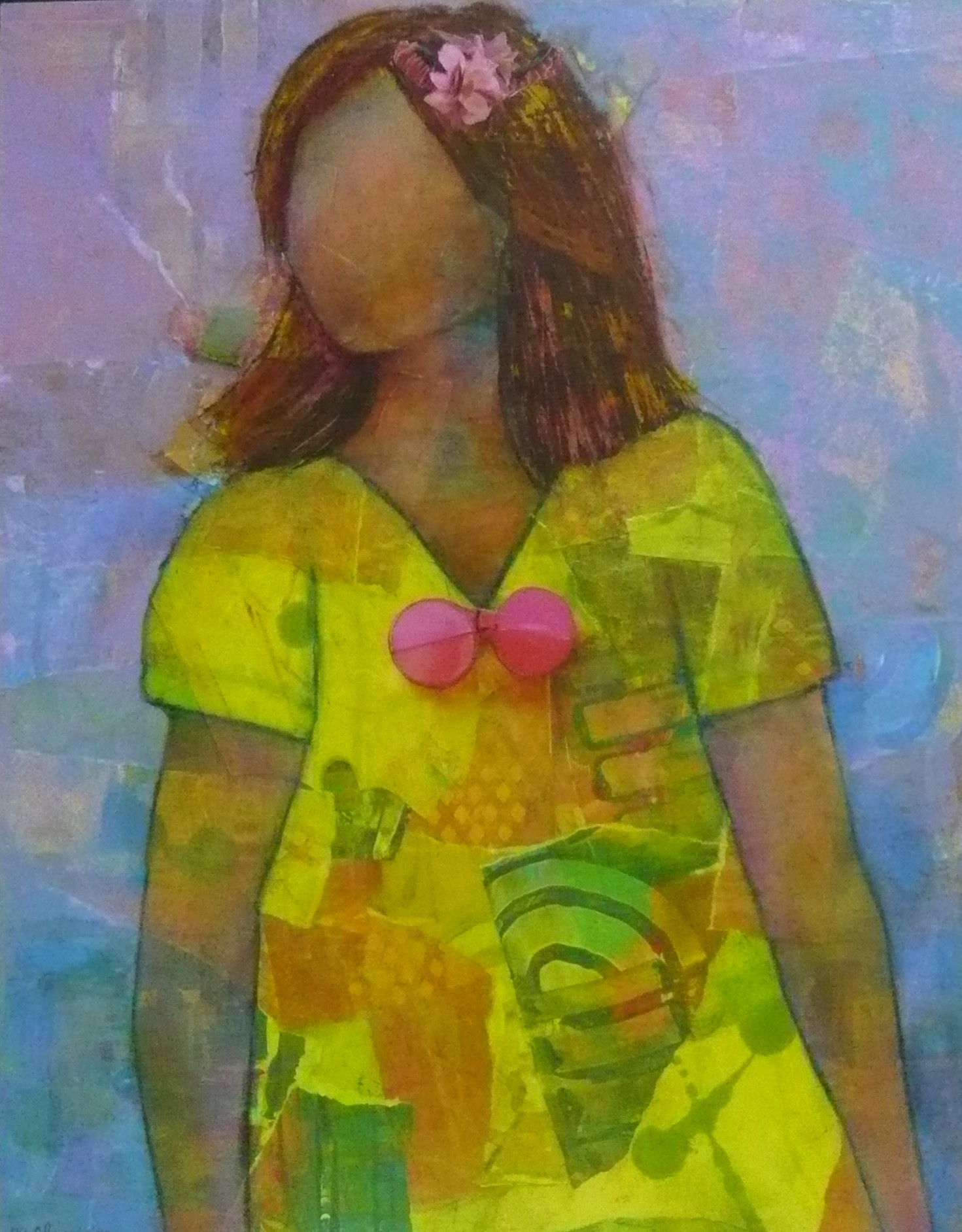 Figure in Abstract Dress