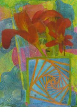 Lillies in Spiral Box