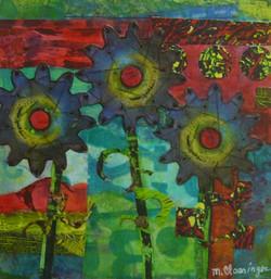 Swirling Flowers Series #3