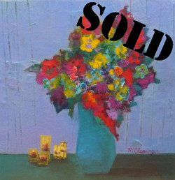 Blue Vase in Candlelight_SOLD