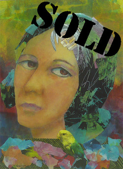 Woman With Parakeet_SOLD