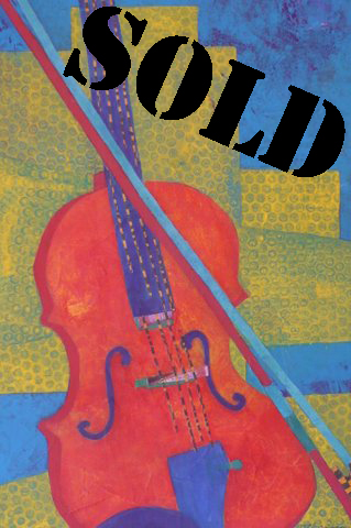 V is for Violin_SOLD