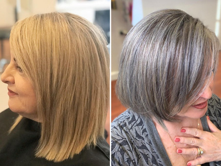Thinking about transitioning to your natural white hair?