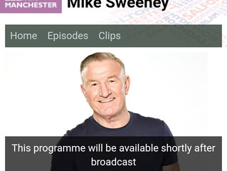 On the BBC tomorrow with Mike Sweeney talking about the book
