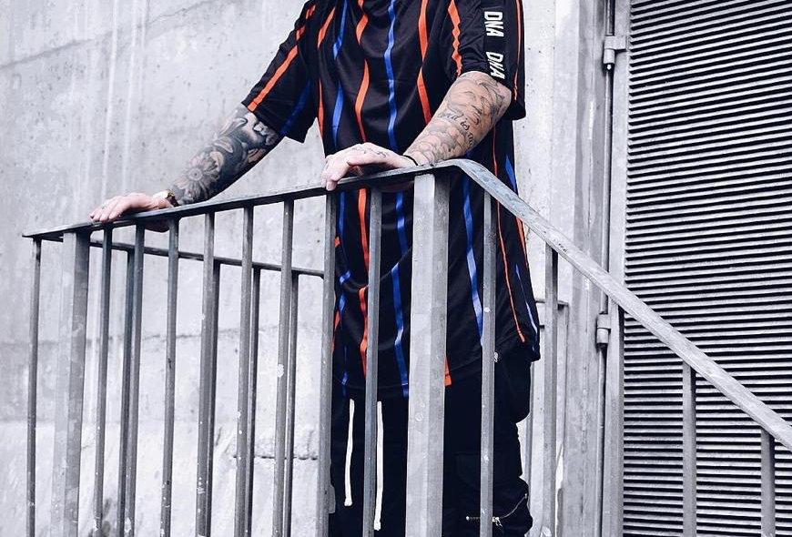 Blue Stripe T-shirt oversized