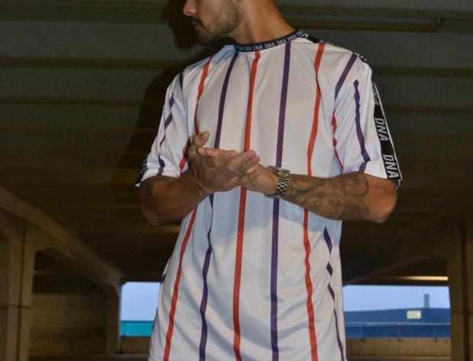 White Stripe T-shirt Oversized