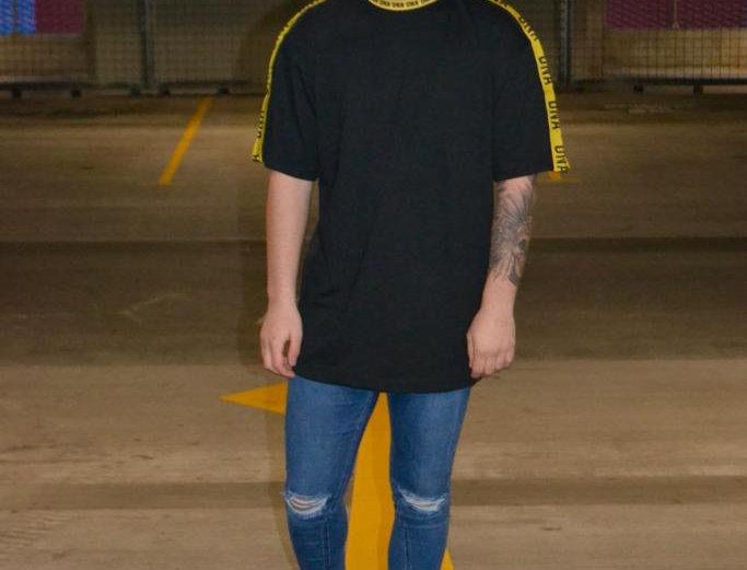 Oversized Tape T-shirt Yellow