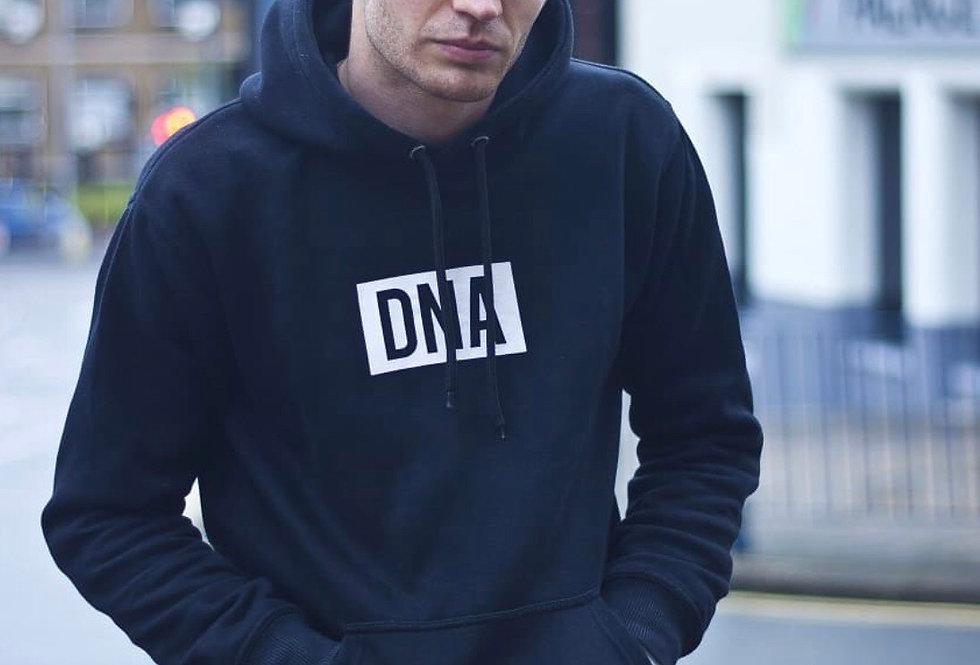 Square DNA Hoodie Black