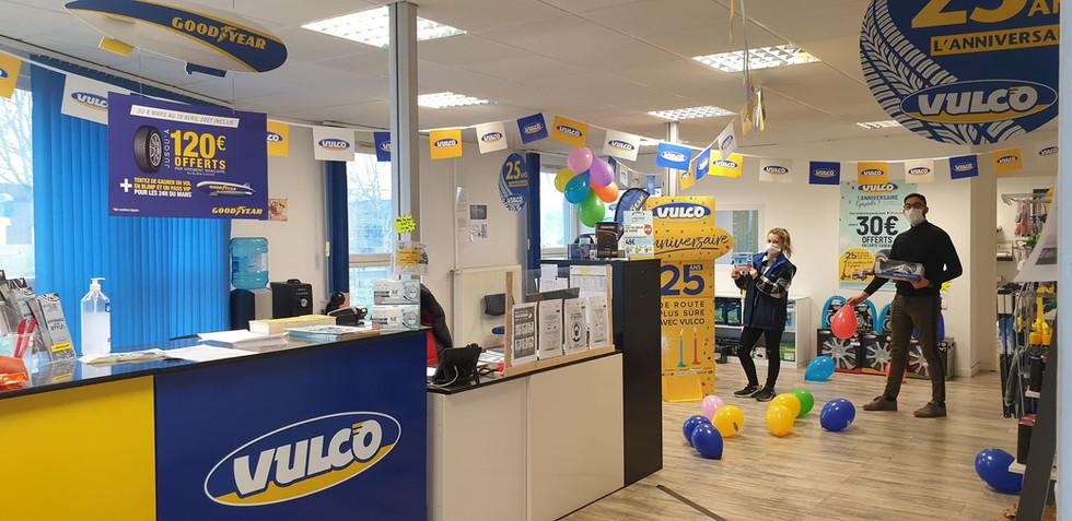Nos points de ventes aux couleurs des 25 ans Vulco