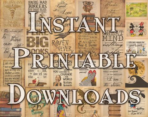 Instant Printable Designs