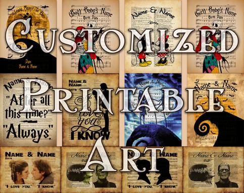 Customized Printable Art