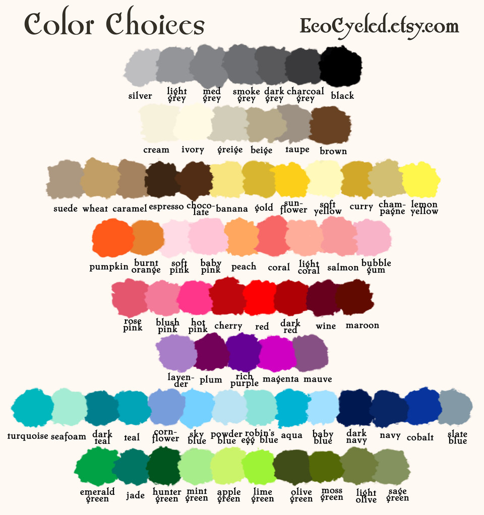 Color Choices for EcoCycled