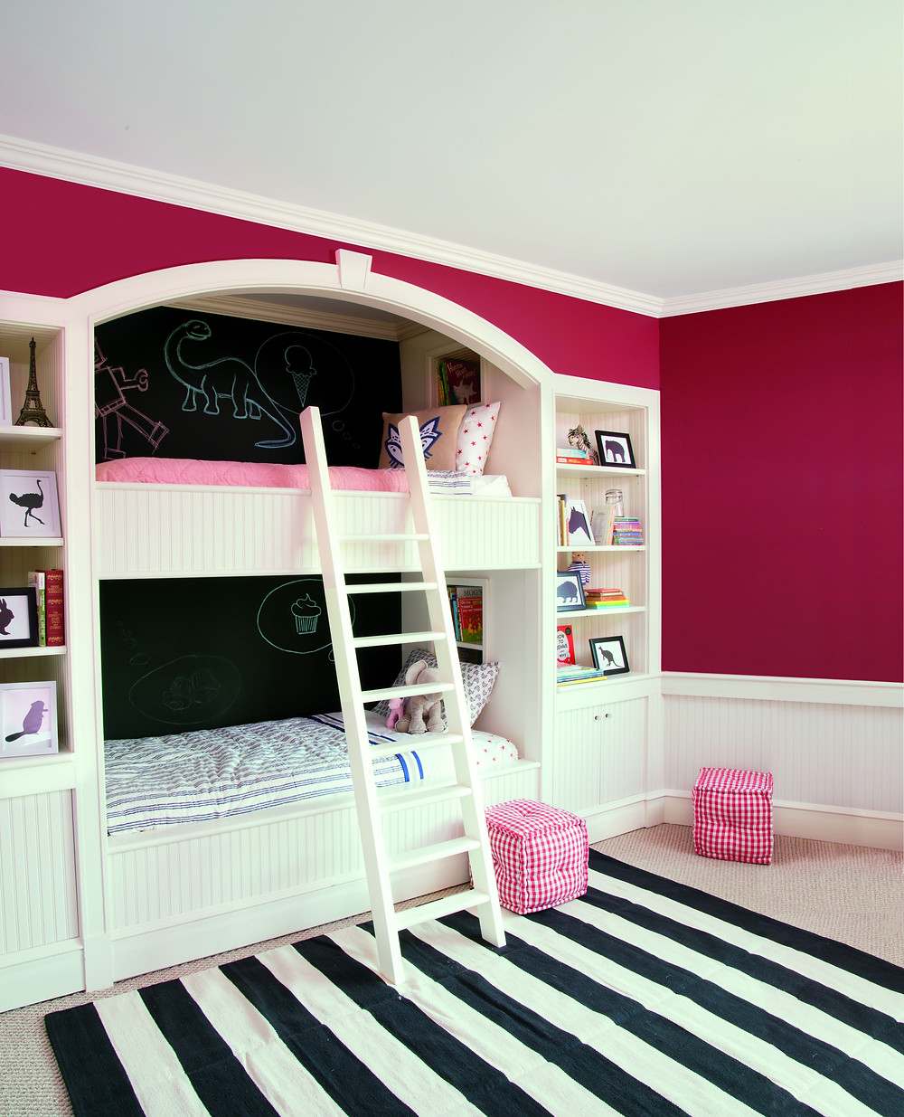 Ideas for Painting Beautiful Accent Walls Magenta Pink Kids Room at SF Dogpatch Mission Hill Potrero Hill Paint Store