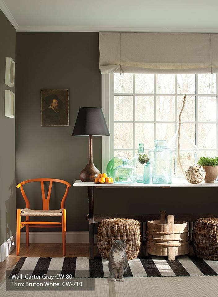Ideas for Painting Beautiful Accent Walls Green Office Study at SF Dogpatch Mission Hill Potrero Hill Paint Store