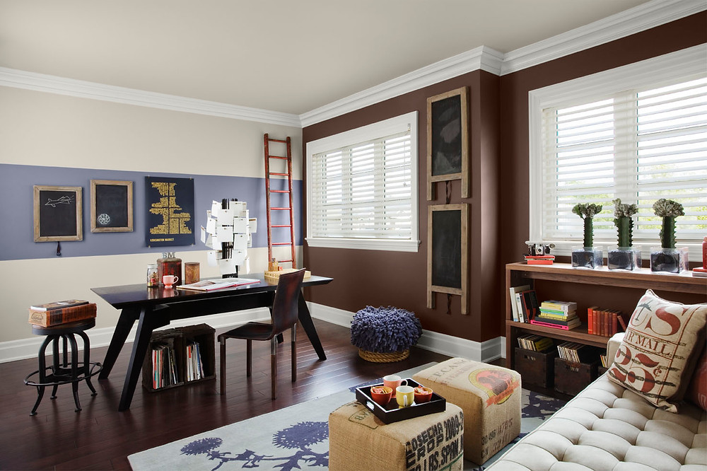 Ideas for Painting Beautiful Accent Walls Living / Dining Room at SF Dogpatch Mission Hill Potrero Hill Paint Store