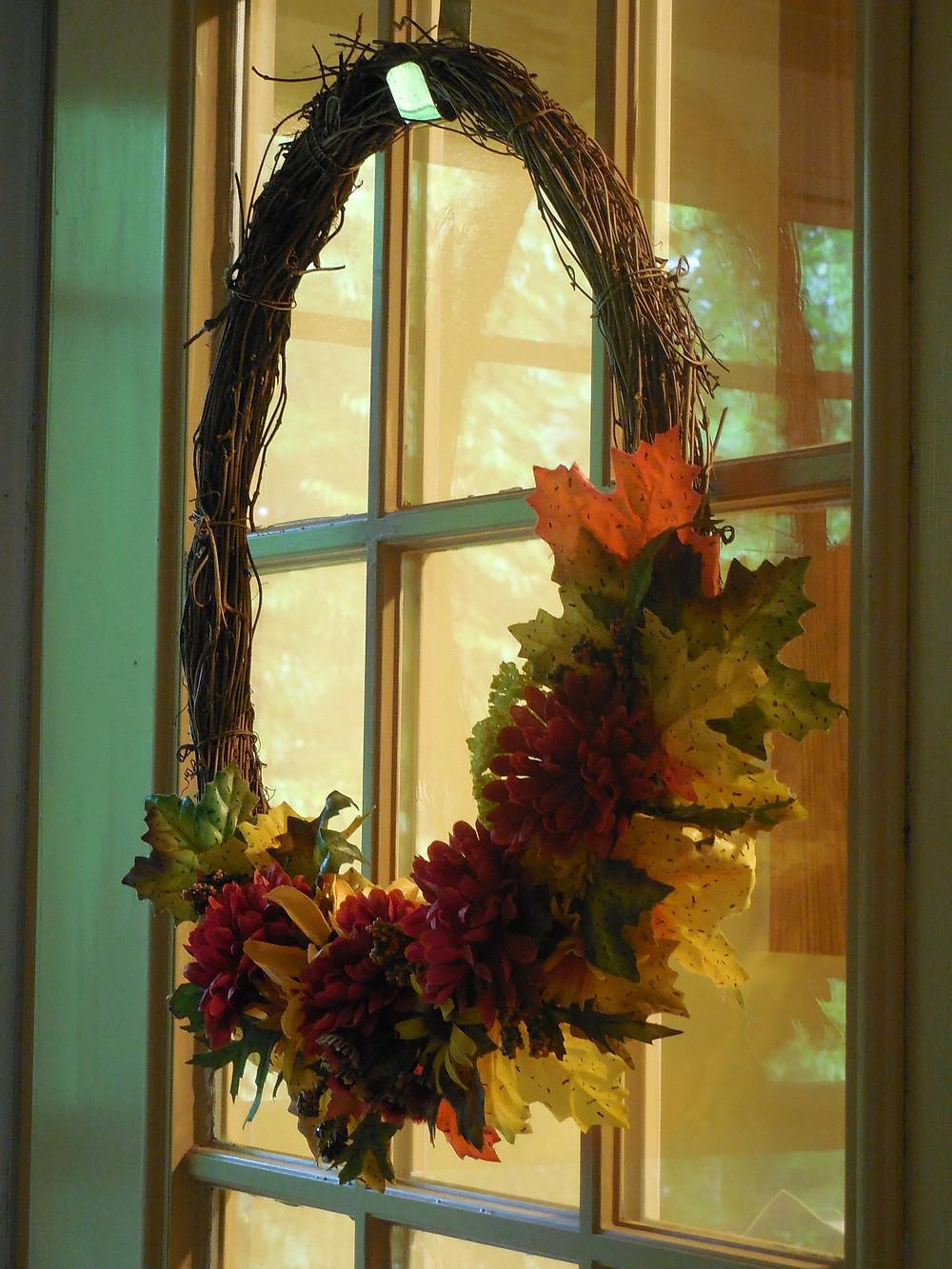 Fall Wreath Idea at Piazza Designs