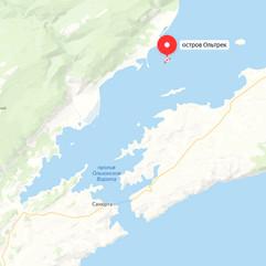 Остров Ольтрек на карте