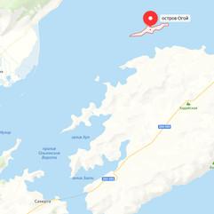 Остров Огой на карте