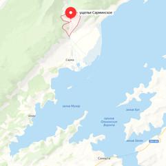 Сарминское ущелье на карте