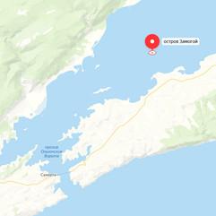 Остров Замогой на карте