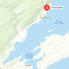 Озеро Курма на карте
