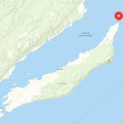 Мыс Хобой на карте