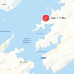 Озеро Нуку-Нур на карте