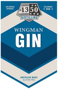"Wingman Gin ""Stripes"" design for 1350 Distilling"