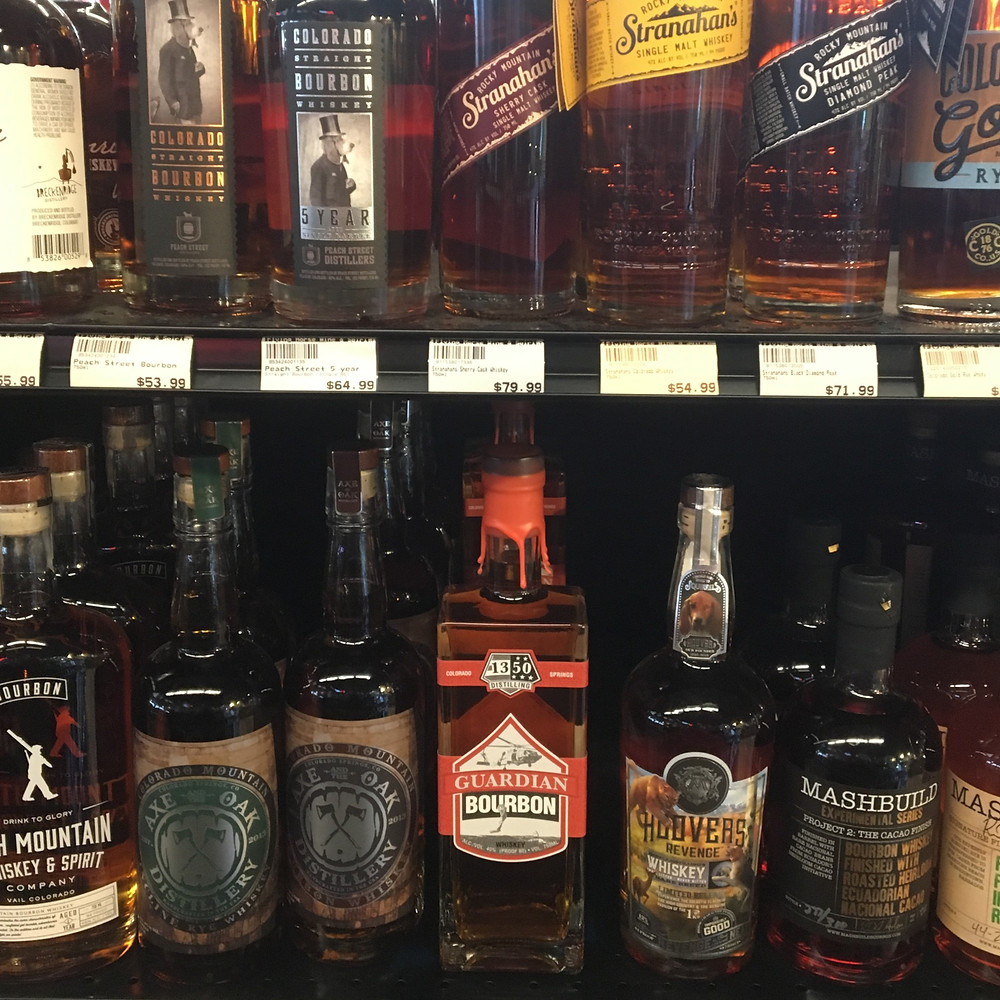 Standing out like a beacon in the dark sea of whiskeys at Flying Horse Wine & Spirit