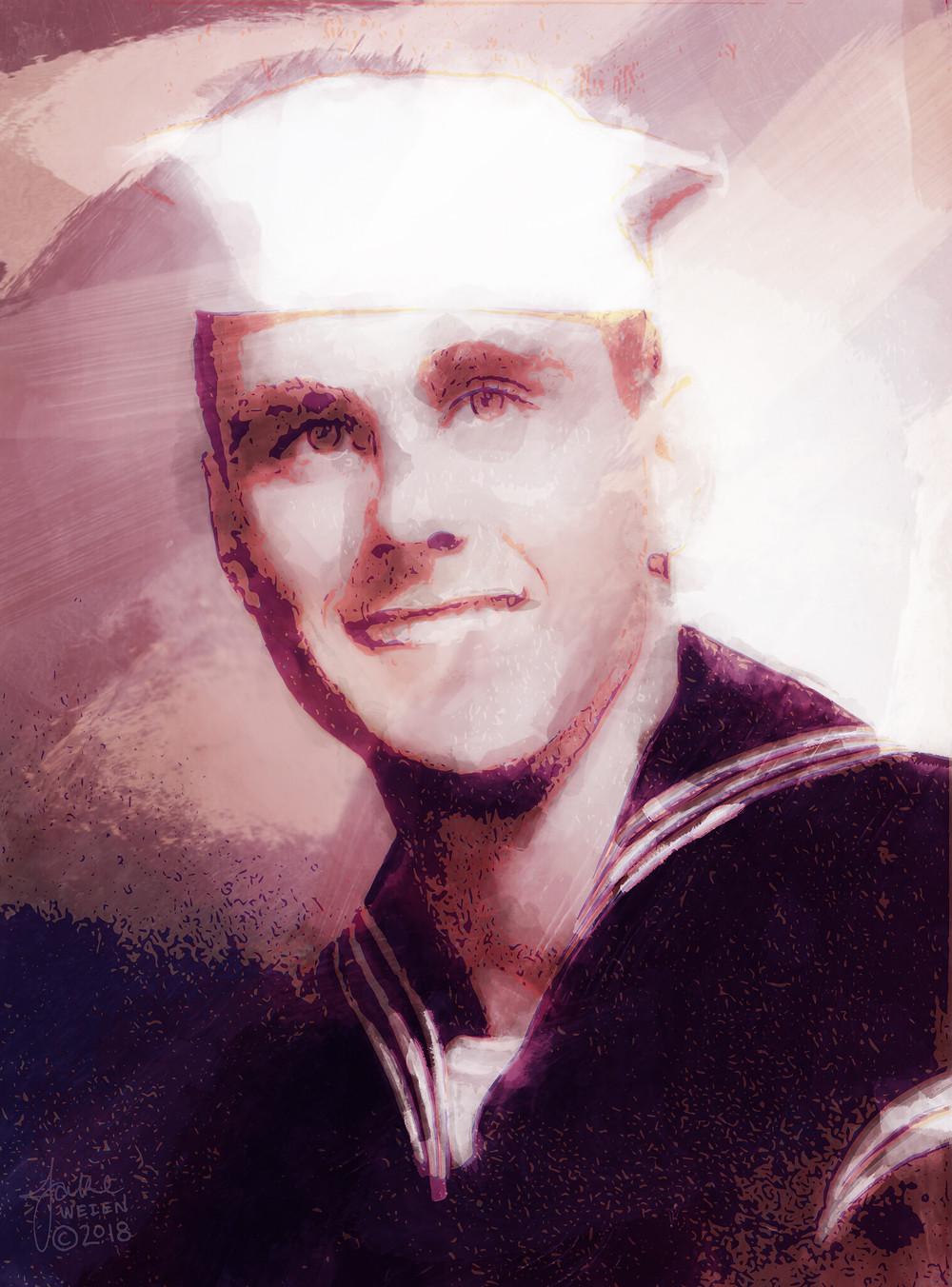 Portrait of U.S. Navy sailor