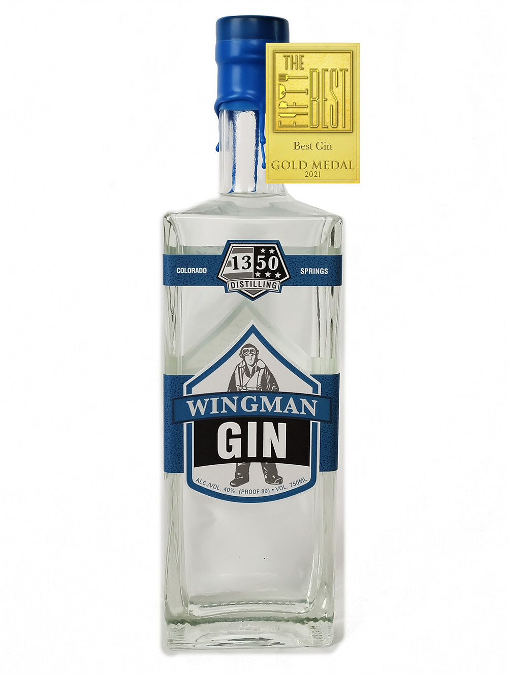 """The Fifty Best awarded Wingman Gin with a Gold medal for """"Best Gin"""" June 9, 2021"""