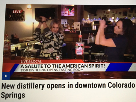 1350 Distilling Showcased on Fox 21 News' Live and Local Broadcast