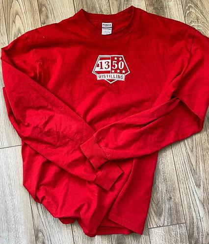 Red Long Sleeve Tee Shirt