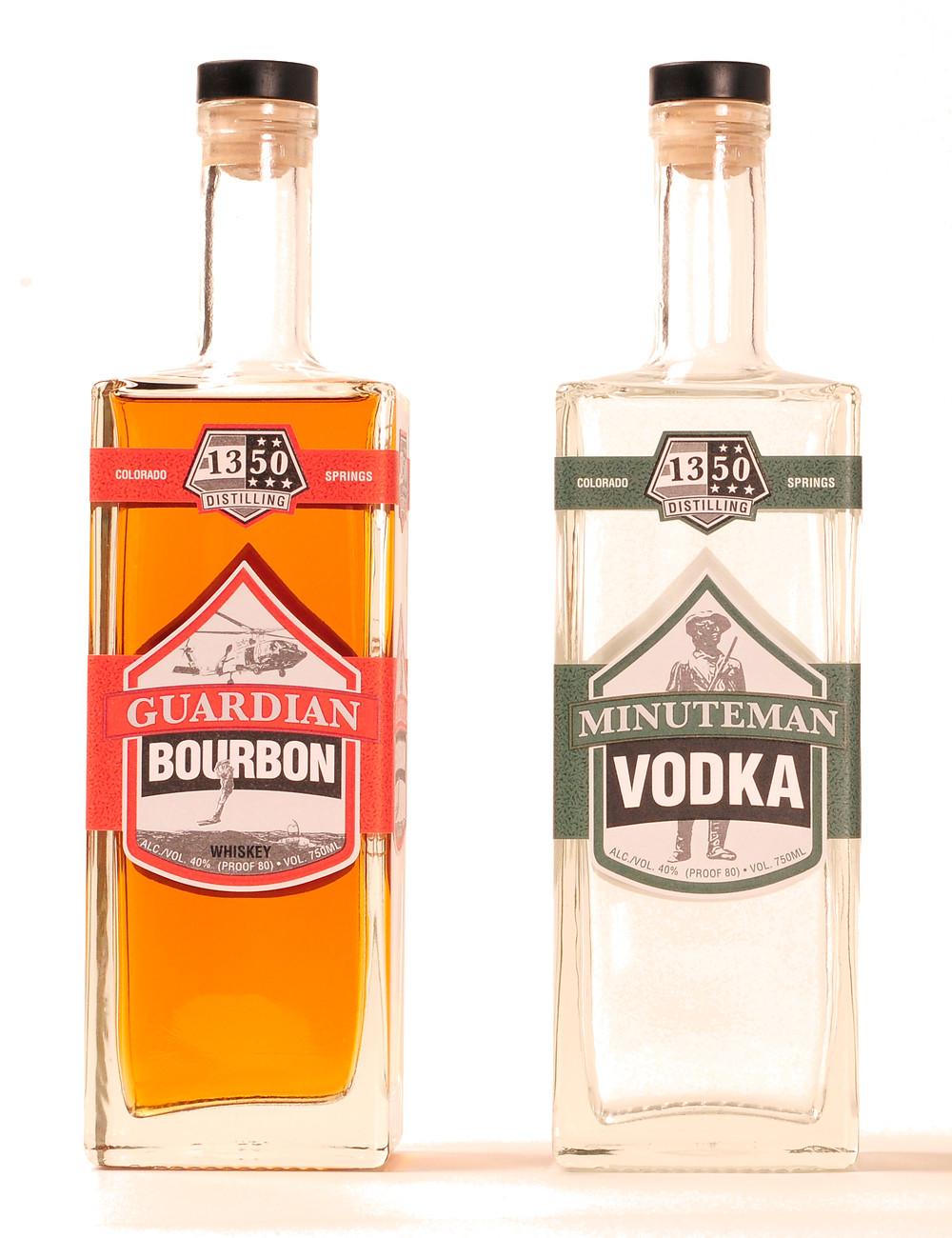Guardian Bourbon and Minuteman Vodka for sale