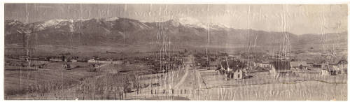 Colorado Springs 1895 with Pikes Peak in background