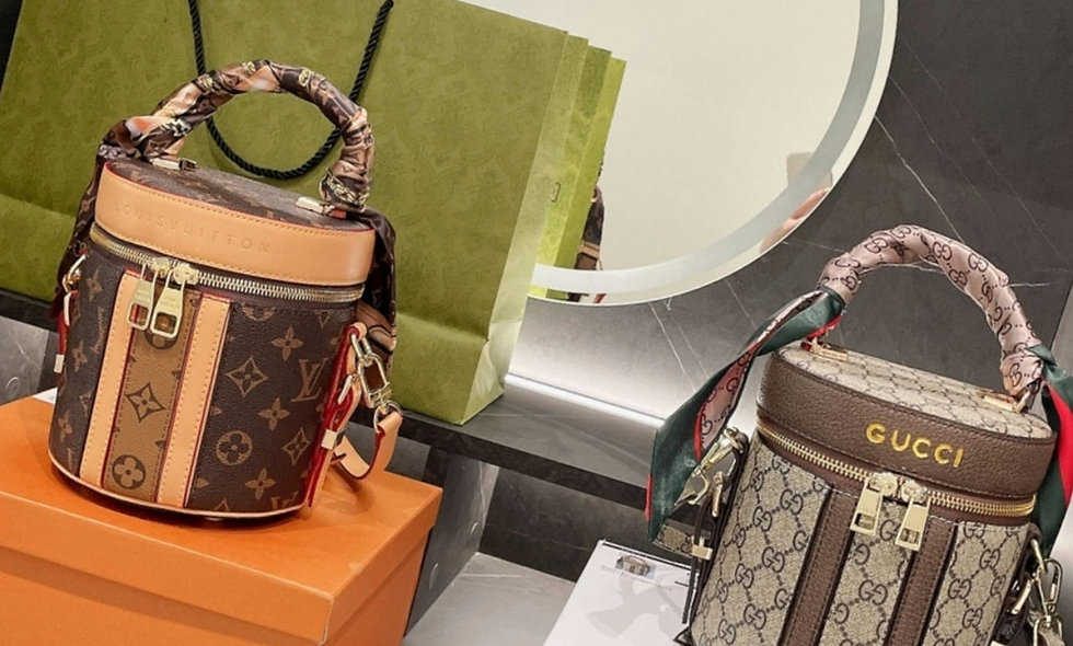 Designer genuine leather handbag